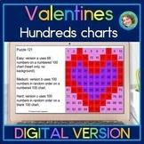 Valentines Hundreds Chart DIGITAL Mystery Pictures for Google Slides™