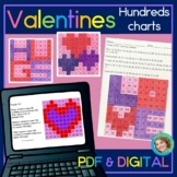 Valentines Hundreds Chart Google Slides™ and Printable Mystery Pictures