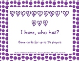 """FREE Valentine's """"I Have, Who Has"""" Card Game"""