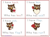 Valentines I Have Who Has with 4 Letter short vowel words