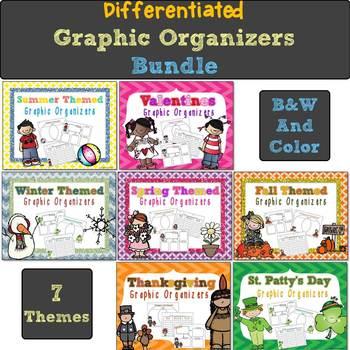 Year Round Differentiated Graphic Organizers Bundle