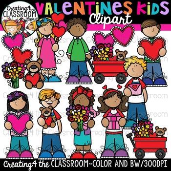 Valentines Kids Clipart {Valentines Day Clipart}