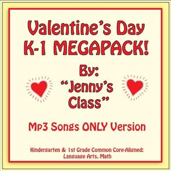 Valentine's Day Kindergarten & 1st Grade MEGAPACK/Songs On