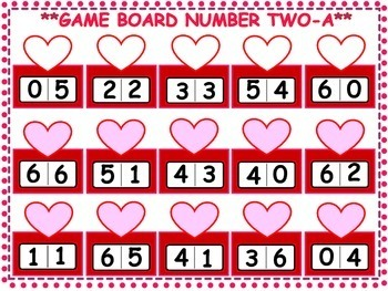Valentine's Kindergarten Math Games
