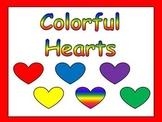 Valentines Kindergarten Reading PowerPoint- color & number words