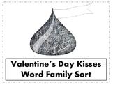 Valentine's Kisses Word Family Sort