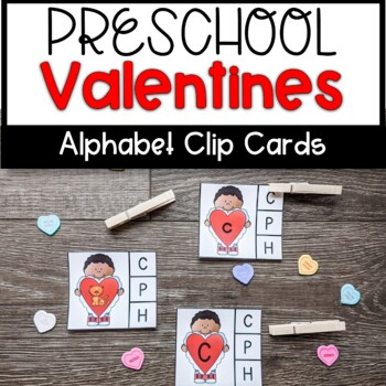 Valentines Letter Recognition Clip Cards