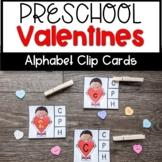 Valentines Letter Recognition Clip Cards