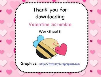 Valentine's Letter Scrambles