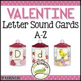 Valentines Letter Sound Cards A-Z