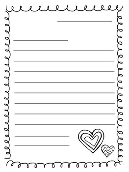 Valentines Letter Writing Paper