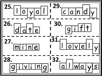 Valentine's Word Games and Puzzles: For Elementary Grades