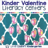 Valentines Day Activities: Kindergarten Literacy Centers