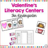 Valentine's Literacy Centers for Kindergarten