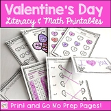 First Grade Valentine's Day Printables