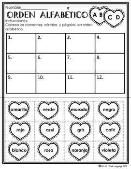 valentines literacy packet in spanish by mrs g dual language tpt. Black Bedroom Furniture Sets. Home Design Ideas