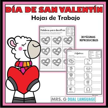 Valentines Literacy Packet in Spanish