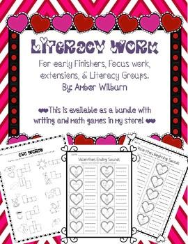 Valentines Literacy Work