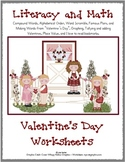 Valentine's Literacy and Math Fun - Grades 2 - 3 (9 Pages with cover)