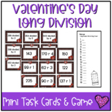Valentine's Day Mini Task Cards: Long Division