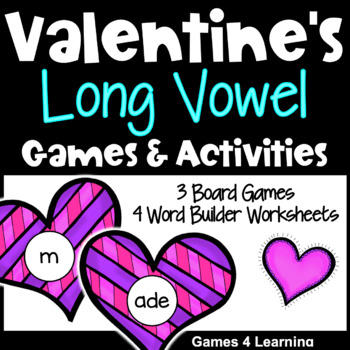 Valentineu0027s Day Activity: Valentineu0027s Day Games And Activities For Long  Vowels