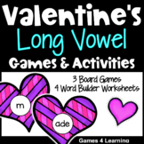 Valentine's Day Games: Valentine's Day Worksheets for Long Vowels: Phonics Games