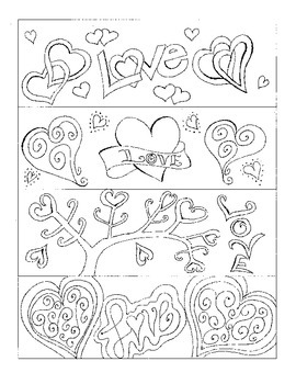 "Valentine's ""Love"" Bookmarks to Color"