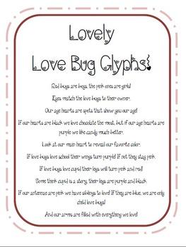 Valentines Love Bug Glyph! {FREEBIE!}
