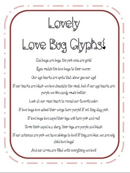 Valentines Love Bug Glyph! {FREEBIE!}