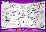 Valentines - Love Doodle Clipart