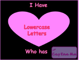 Valentines Lowercase Letters I have Who Has Game