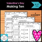 Valentines Making Ten worksheets