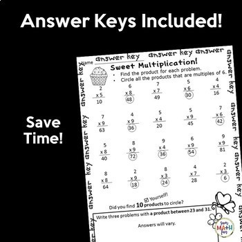 Valentine's Day Multiplication Worksheets for Multiplication Facts