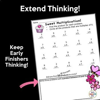 Multiplication Worksheets for Multiplication Fact Practice