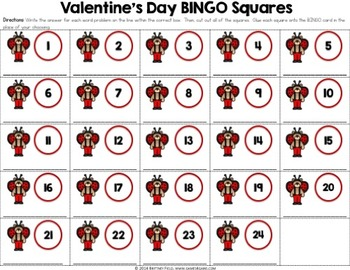 Valentine's Day Math Game: Multi-Digit Multiplication Word Problems Bingo