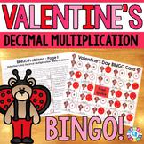 Valentine's Day Math Game: Multiplying Decimals Word Problems Math Bingo