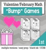 Valentines Math 1st Grade Bump Games Bundle