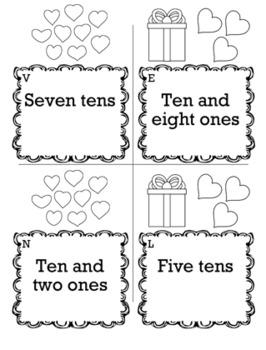 Valentines Math 1st Grade Scavenger Hunt Game Bundle