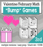 Valentines Math 3rd Grade+ Bump Games Bundle