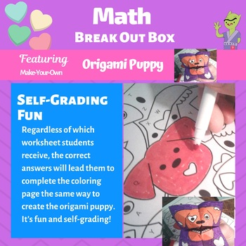 Valentine's Day Math Craft with a Prize | Valentine's Day Math Color by Number