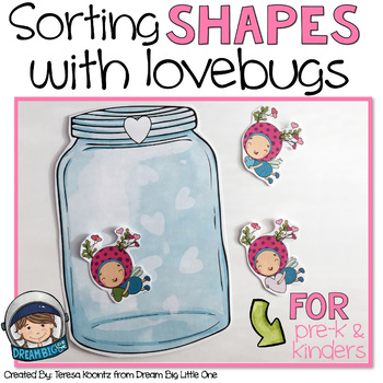 Valentines Math Activity (shape sorting for prek and kindergarten)