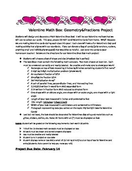 Valentine's Math Box Project