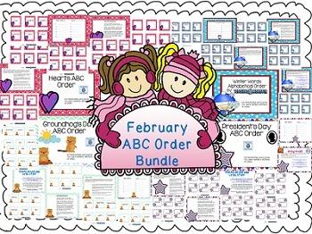 February ABC Order Centers Bundle
