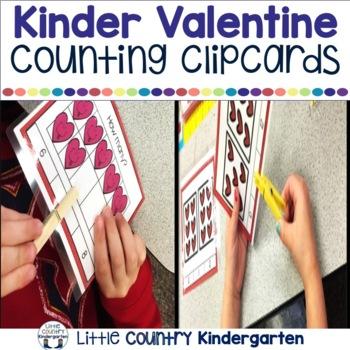 Valentines Math Centers: Kinder Bundle