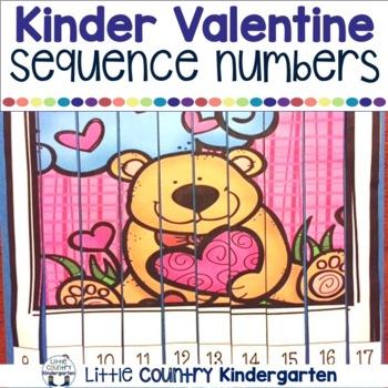 Valentines Day Activities: Kindergarten Math Centers