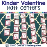 Valentines Math Centers: Kinder Bundle