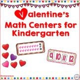 Valentine's Math Centers for Kindergarten