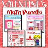 Valentines Math Digital and Printable Activities February Bundle