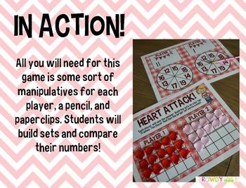 Valentine's Math Games FREEBIE