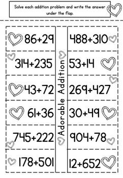 Valentine's Math Interactive Notebook